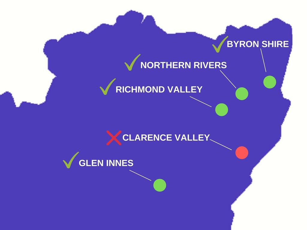 The Clarence Valley has been snubbed from the new border bubble extension.