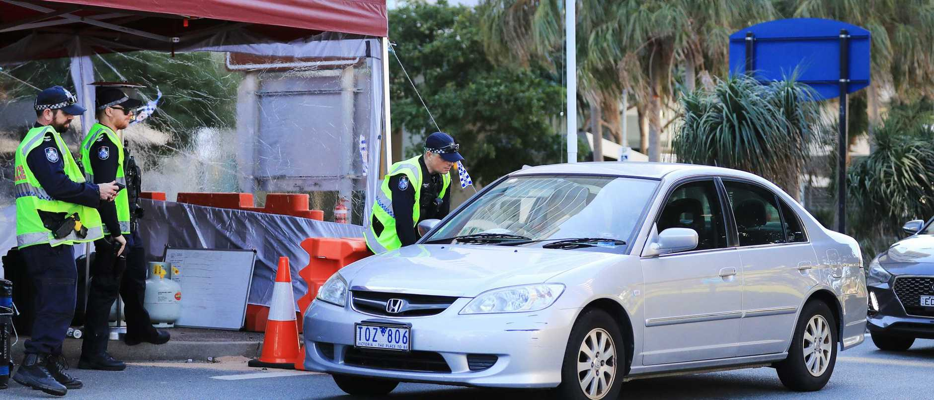QLD Police Border Checkpoint Coolangatta