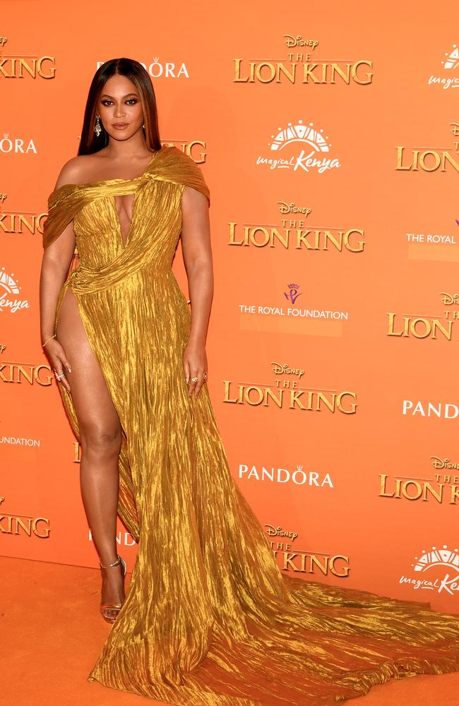 Beyonce Knowles-Carter voiced Nala and sang on The Lion King remake soundtrack. Picture: Gareth Cattermole/Getty Images for Disney