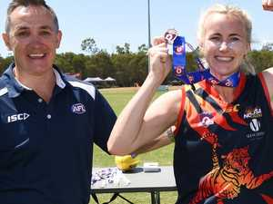AFL star inspires her students with grand final award