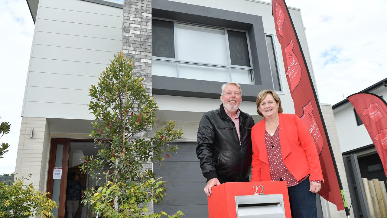 Bruce and Denise Morcombe say they couldn't be happier after the sale of the Morcombe Foundation's Build it for the Kids Home. Photo: Patrick Woods