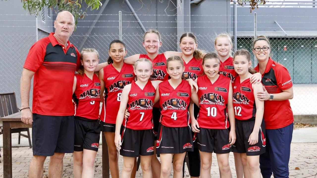 The U12 Mackay Meteorettes are 2020 State Champions, after knocking off Townsville Flames 81-44 in the gold medal match in Townsville. Photo: Trudi Jensen