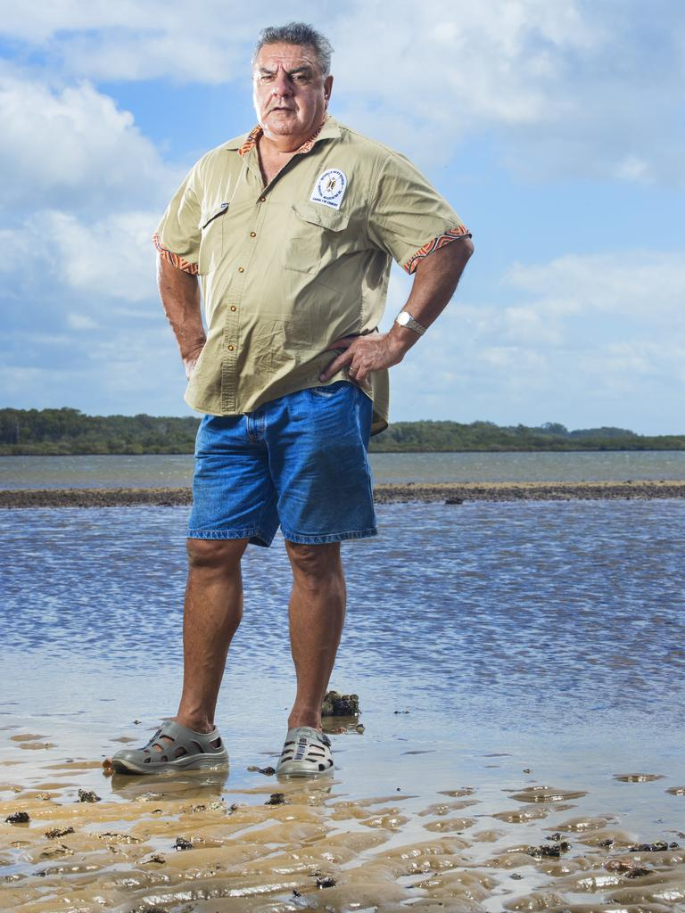 Butchulla Mens Business Aboriginal Association President Glen Miller is protecting traditional hunting laws in his native country in the Great Sandy Strait and Fraser Island. Photo Lachie Millard