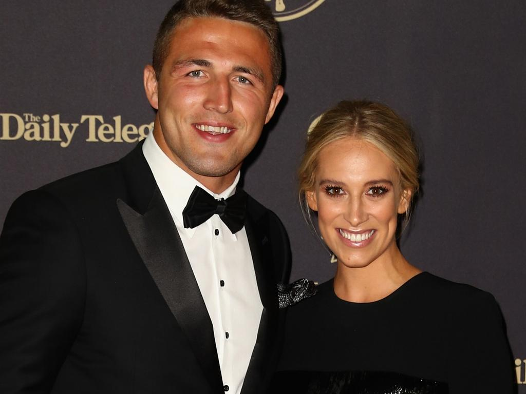Sam Burgess and Phoebe as a new couple in September 2016. Picture: Ryan Pierse/Getty Images