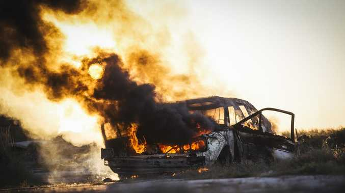 Car battery causes Toolooa vehicle fire