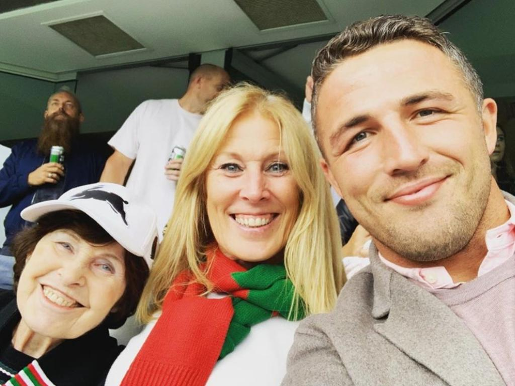 Burgess with his mum Julie and nan Valerie. Picture: Insstgram