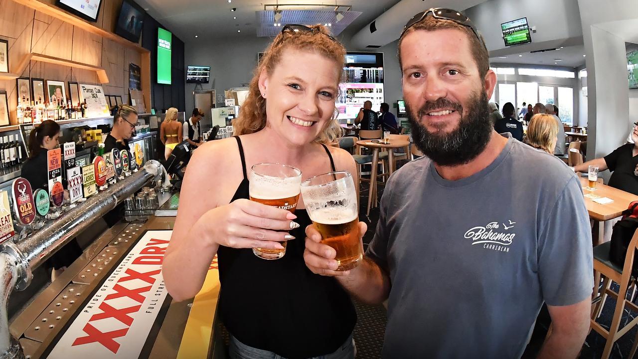 Ashleigh and Damien Hazell at North Shore Tavern. Photo: Patrick Woods
