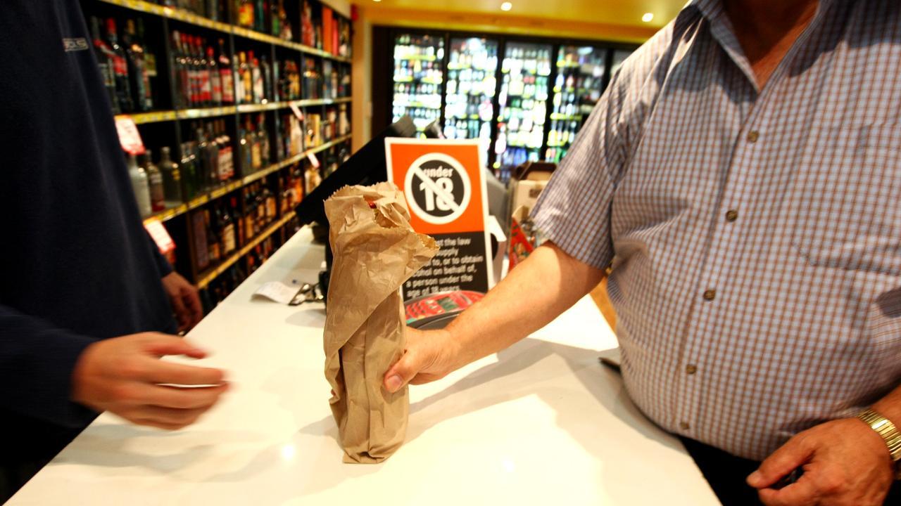 Generic photos of liquor bottle shop, alcohol, brown paper bag, wine, beer, spirit, spirits, grog shop.