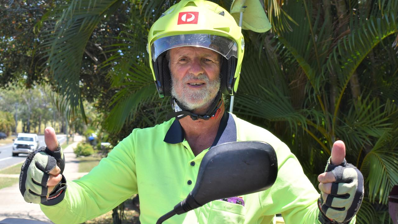 Harry Deurhof has retired today after serving as a postie with Australia Post for more than 30 years. Picture: Heidi Petith