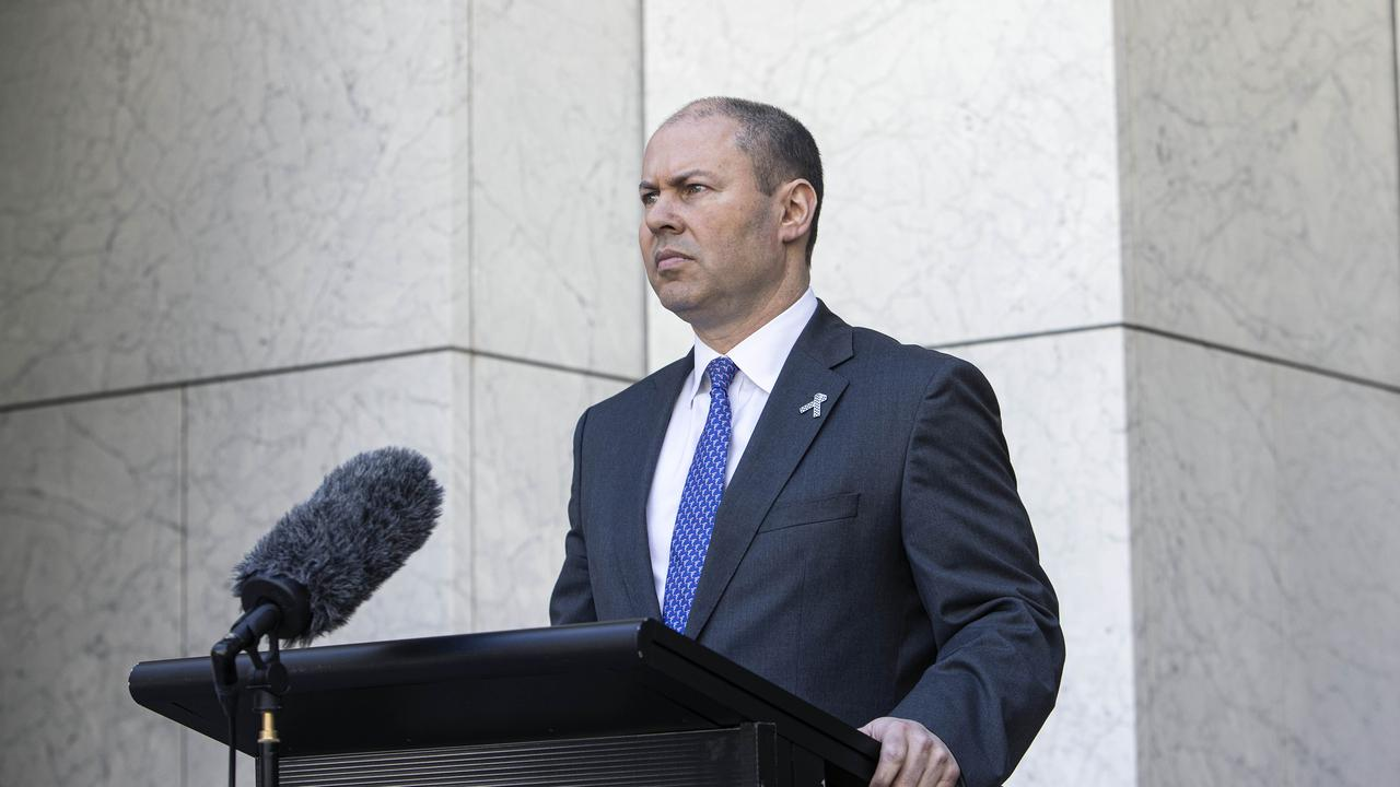 Treasurer Josh Frydenberg will hand down a historic Federal Budget on Tuesday. Picture: NCA NewsWire/Gary Ramage