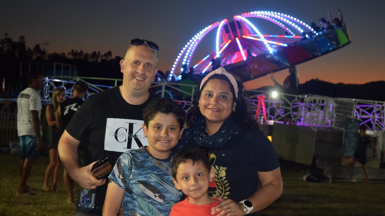 Shane, Elizabeth, Antonio (10) and Leandro (6) Smith at the Whitsunday Family Festival. Picture: Laura Thomas
