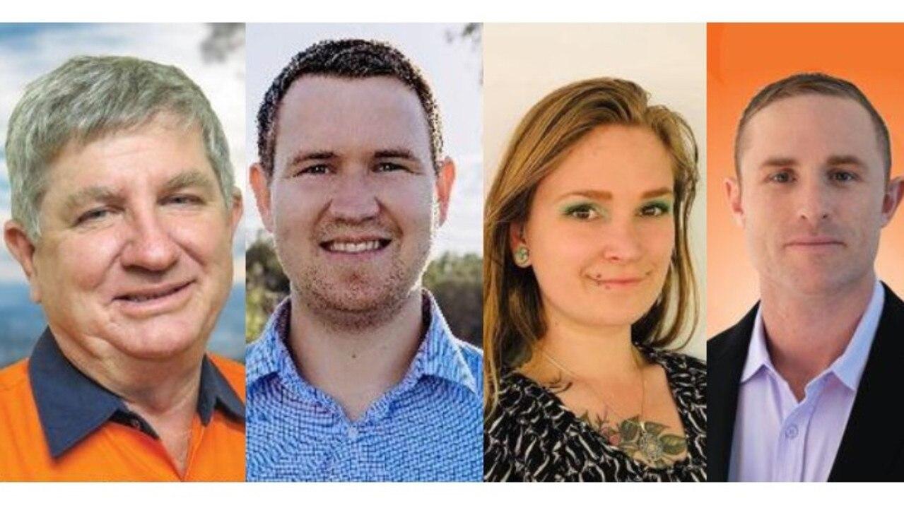 Rockhampton election debate candidates L-R: Tony Hopkins, Christian Shepherd, Laura Barnard and Torin O'Brien.