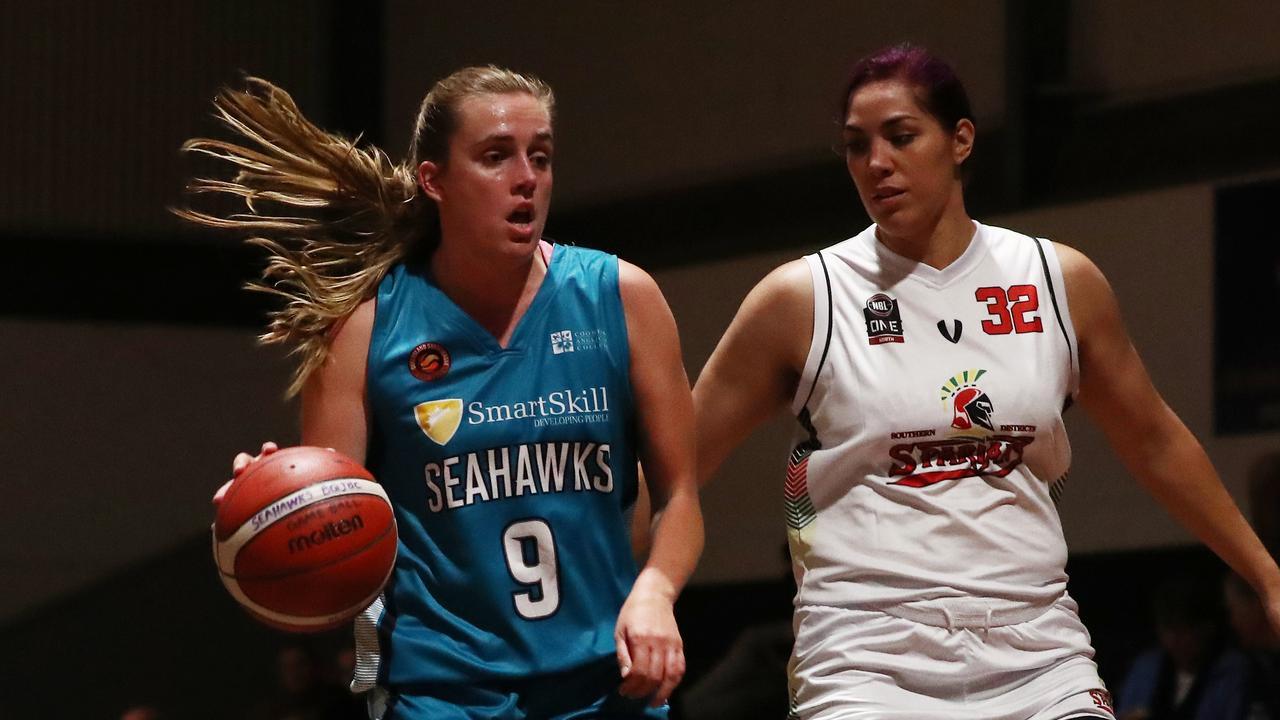 Lauren Jansen of the North Gold Coast Seahawks. Photograph: Jason O'Brien