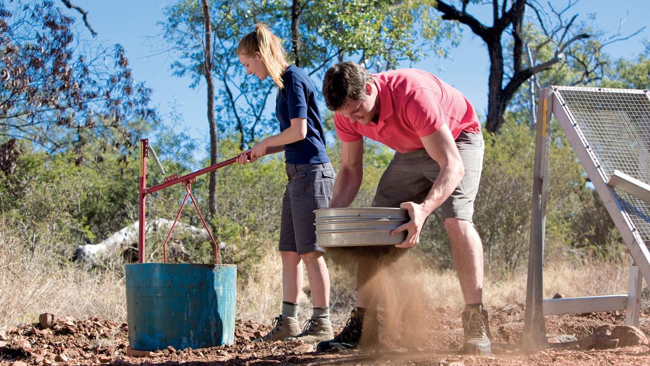 Gold prospectors in Central Queensland.