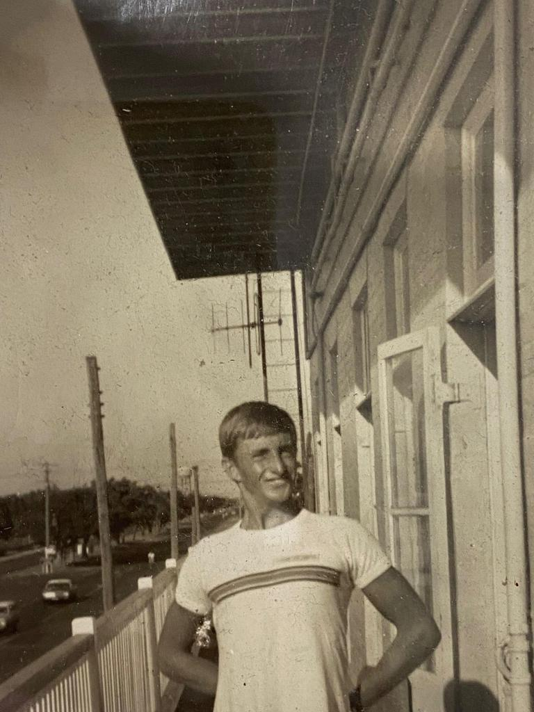LOOKING BACK: John Fisher stands on the veranda of the Federal Hotel in Bundaberg in the 60s.