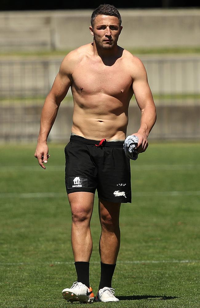Sam Burgess has been has stood down from Souths Sydney's coaching squad. Picture: Phil Hillyard