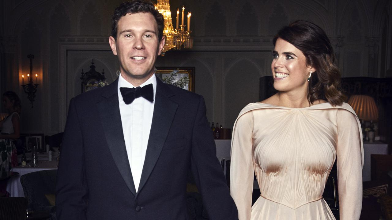 Princess Eugenie and Jack Brooksbank are choosing not to give their baby a royal title. Picture: Alex Bramall/Royal Communications via Getty Images