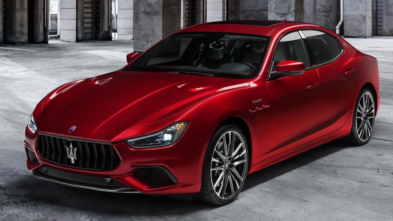 Investigators found a Maserati Ghibli, similar to the one above.