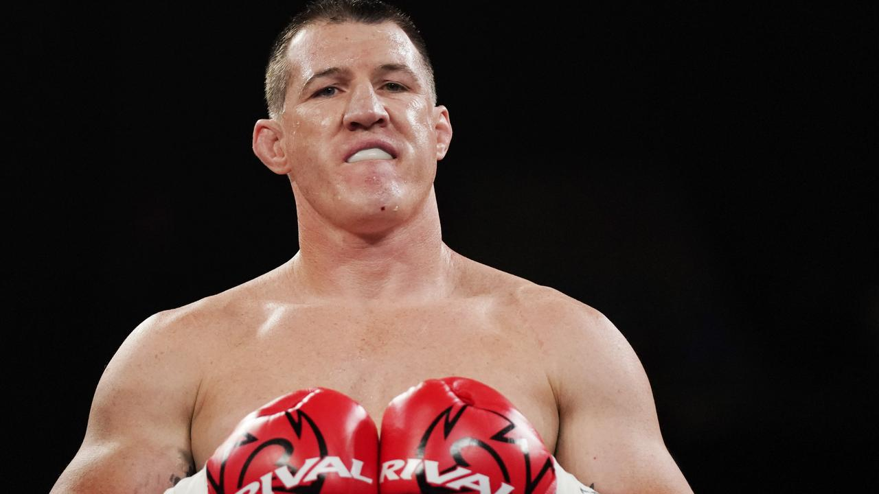 Paul Gallen's plans to fight Mark Hunt appear over after suffering a torn bicep. Picture: AAP.
