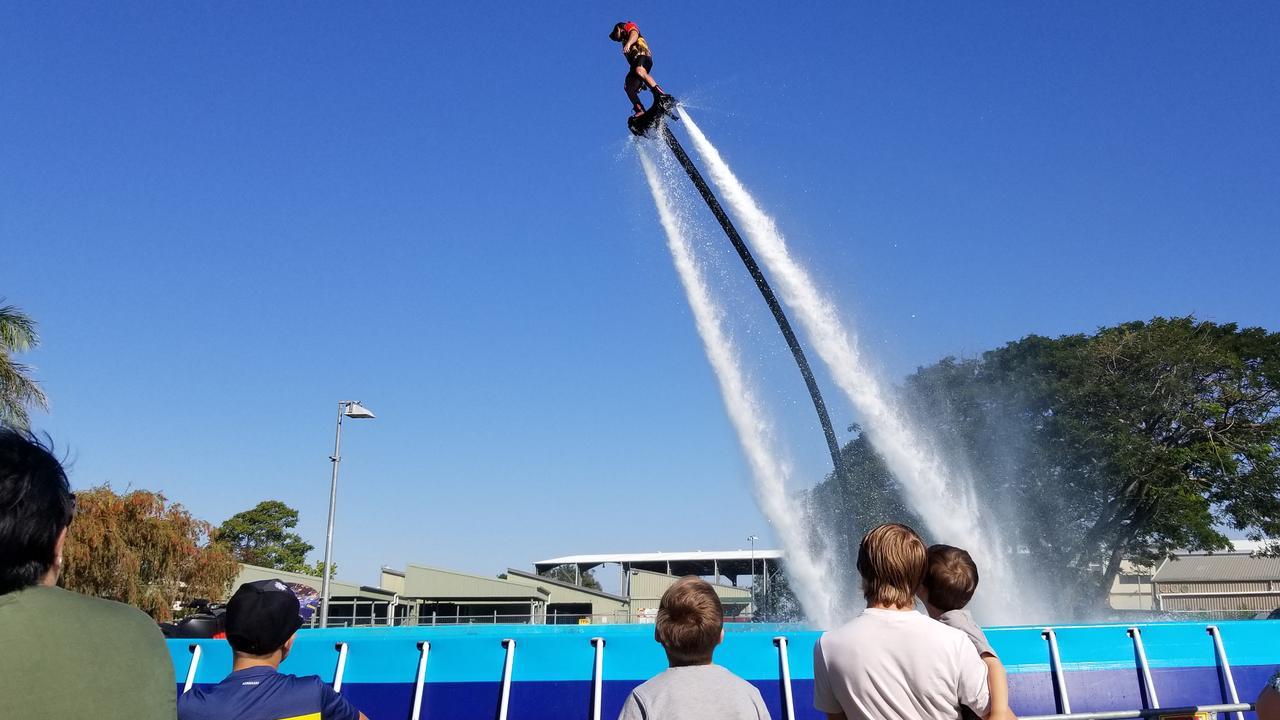 The jet ski fly boarder show at Rockhampton Showfest.