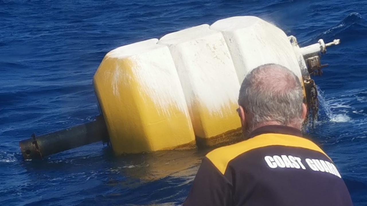 Mooloolaba Coastguard received information on Friday of a large yellow buoy floating off the Mooloolaba Coast. Photo: Supplied