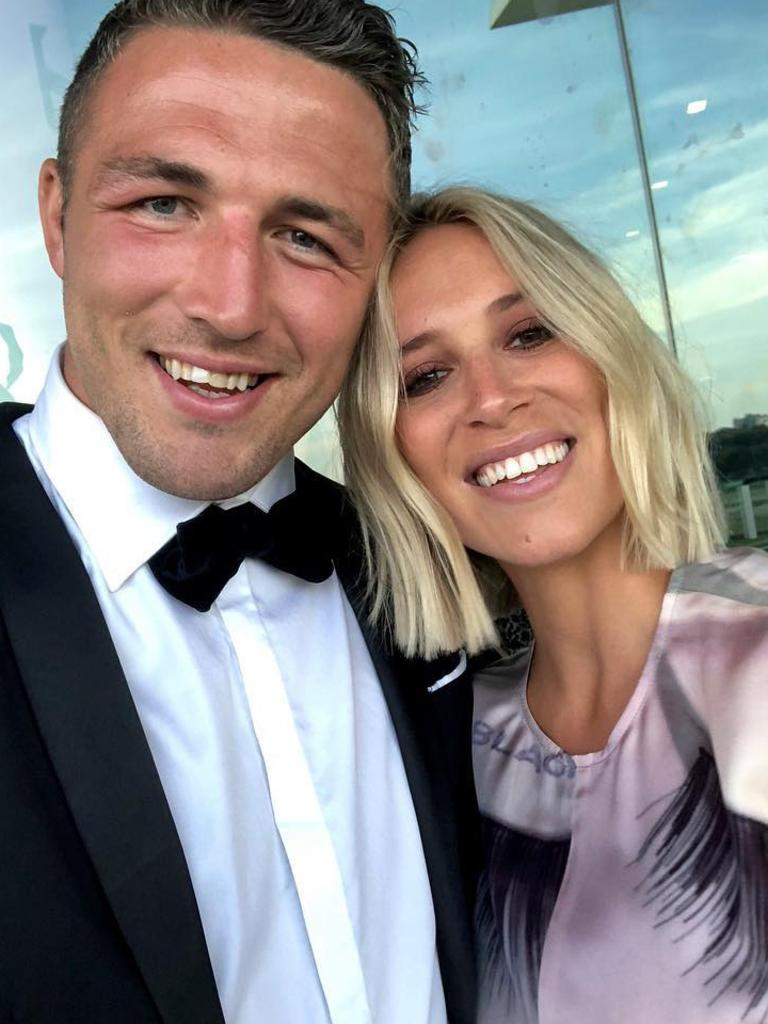 Sam Burgess with his former wife Phoebe. Picture: Instagram