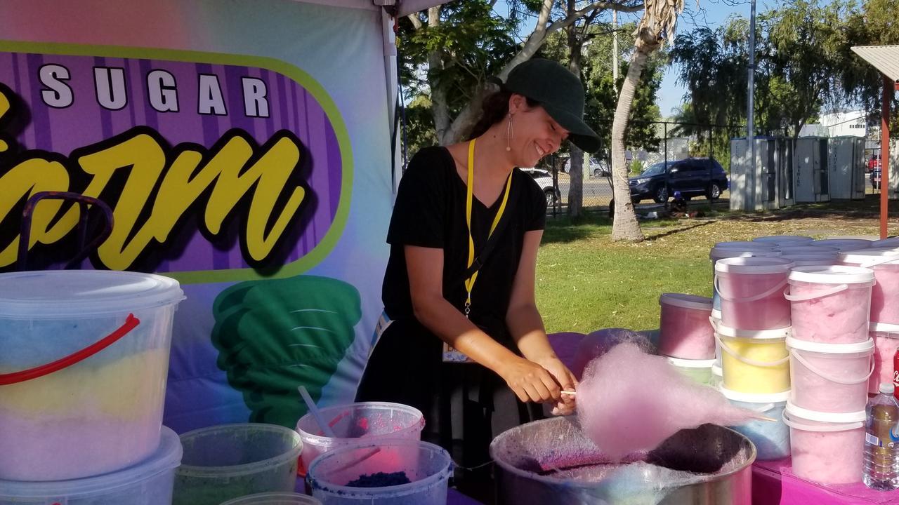 Ana Moya selling fairy floss.