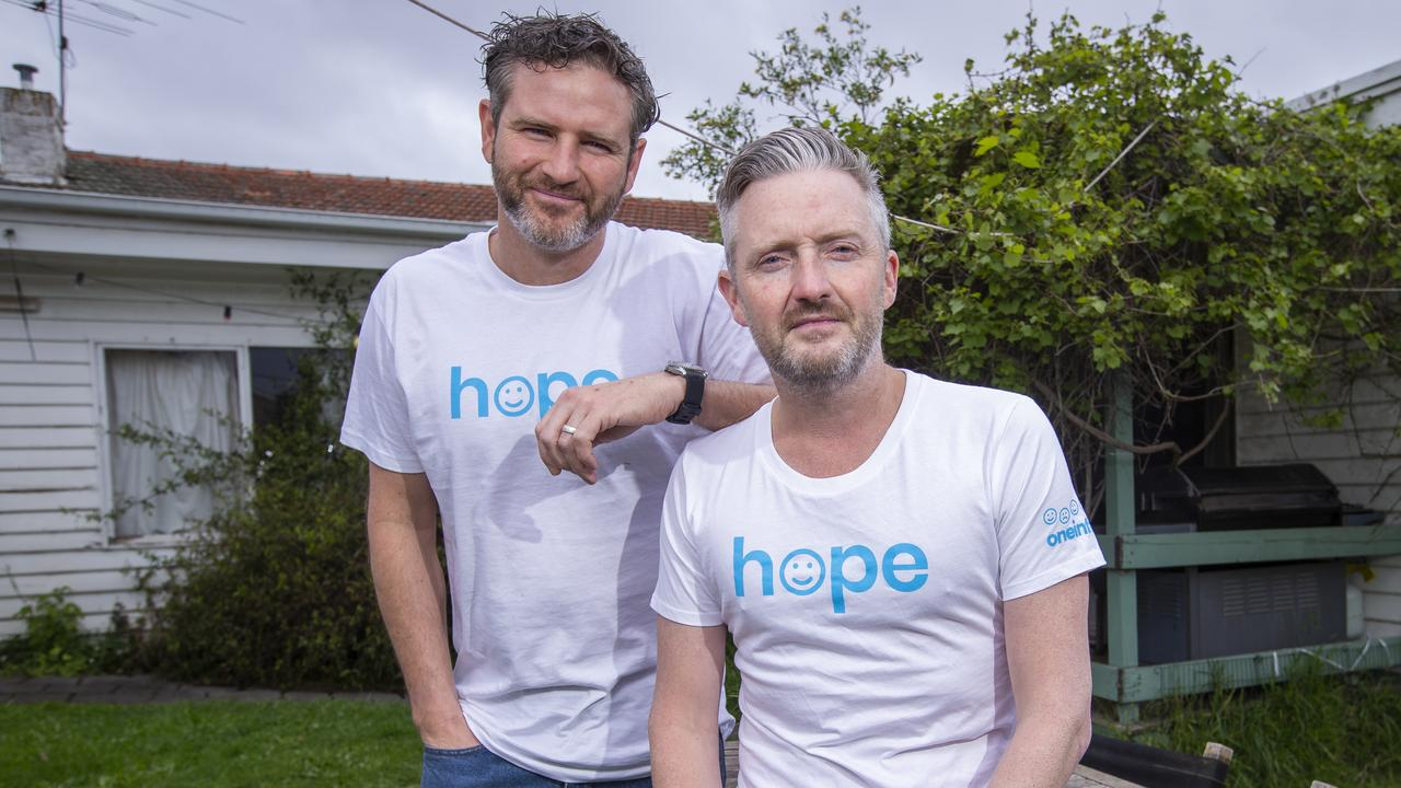 Actor brothers Bernard and Stephen Curry carry a quiet sadness shared not just by their own family, but with the families of one in five Australians.