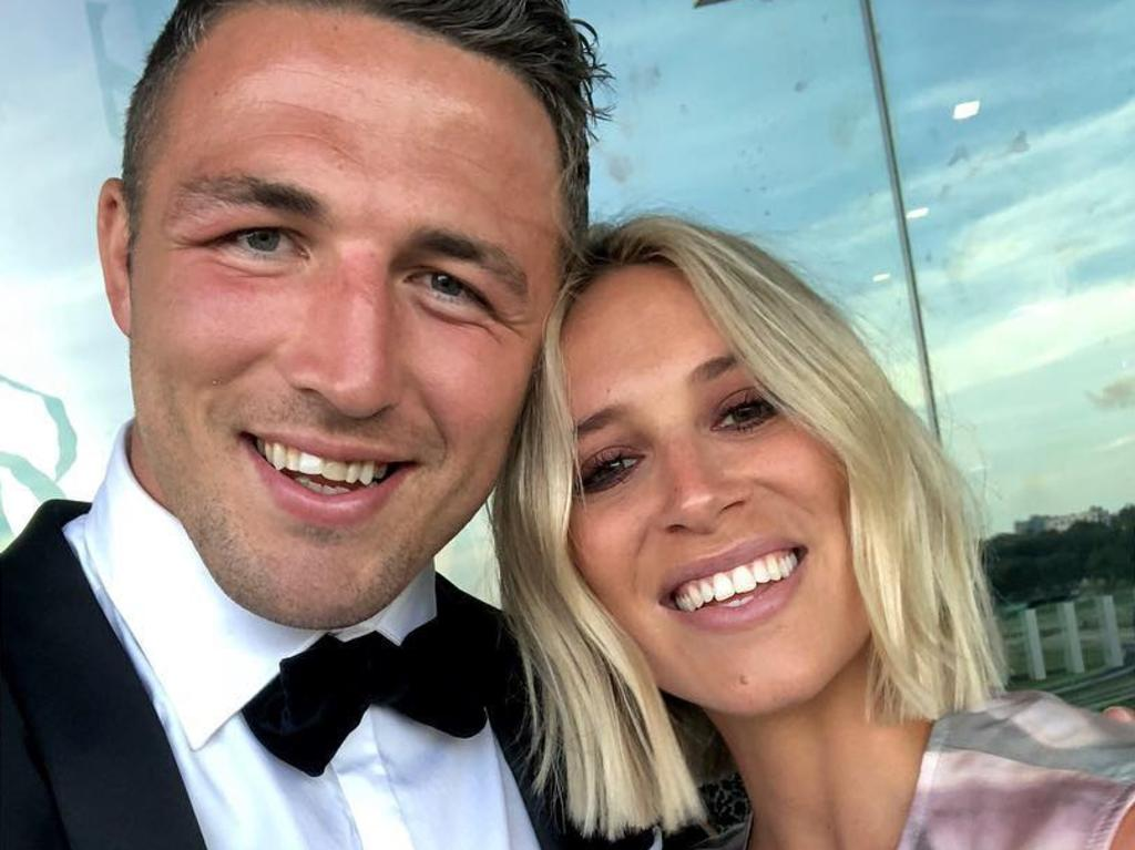 Phoebe and Sam Burgess tumultuous relationship played out in the public eye before leading to their marriage breakdown. Picture: @mrsphoebeburgess/Instagram
