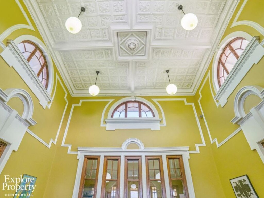 BREATHTAKING: The ceilings of the Mackay heritage-listed Customs House which sold for $1,195,000 in September and will be turned into a dental practice. Picture: Explore Property