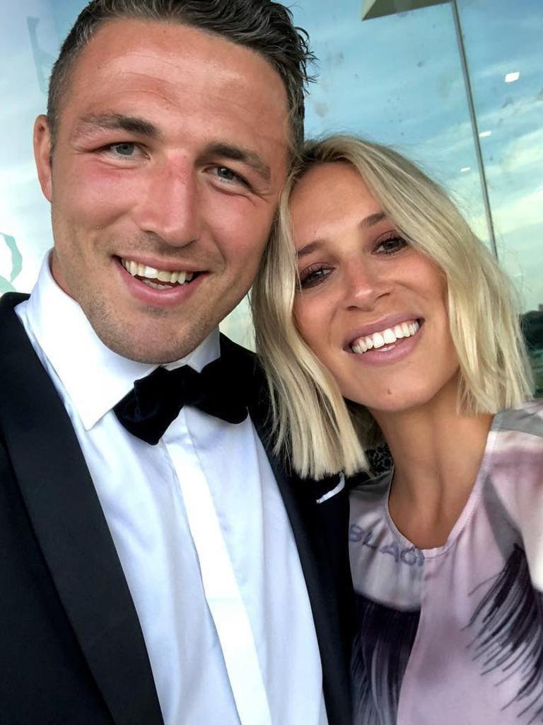 Sam and Phoebe Burgess before their split. Picture: Instagram