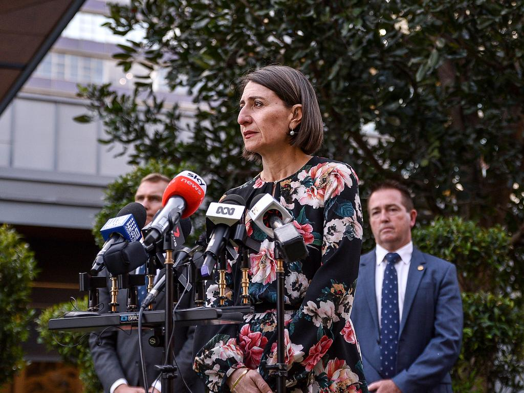 Premier Gladys Berejiklian said government employees were being encouraged to return to work in city offices. Picture: NCA NewsWire/Flavio Brancaleone