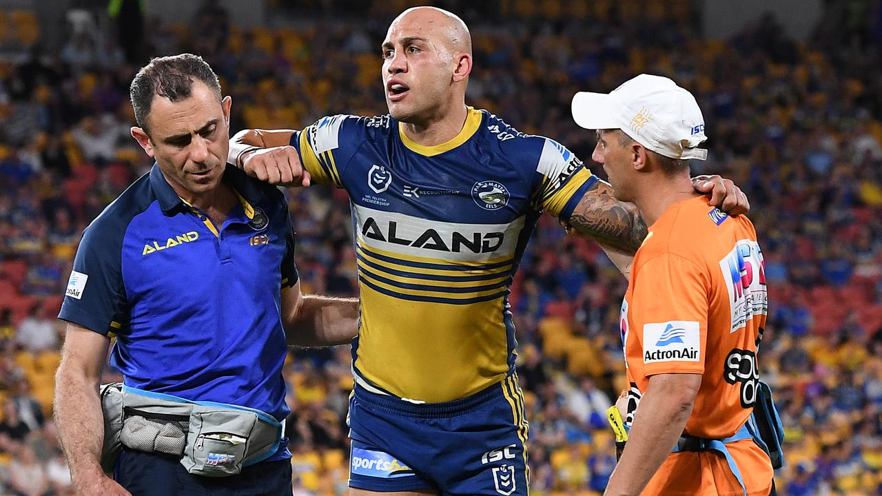 The Eels have injury dramas of their own, losing starting wingers Blake Ferguson and Maika Sivo to injury. Picture: Getty Images.
