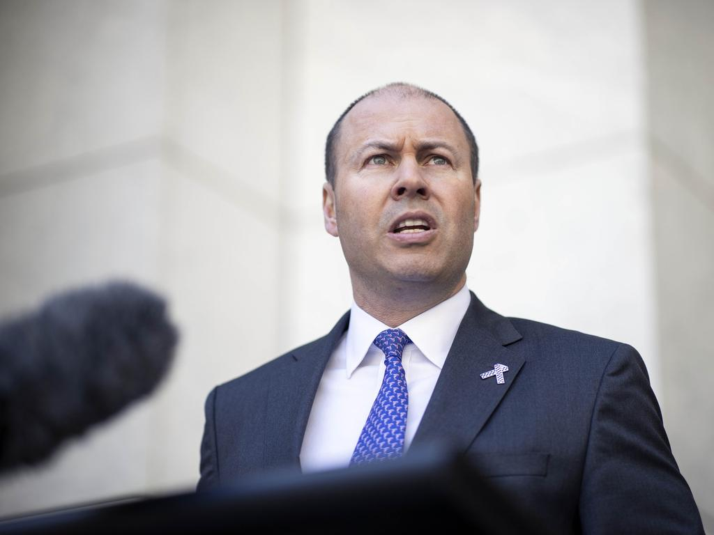 Josh Frydenberg has confirmed the budget will deliver income tax cuts 'right now' in a move that all but confirms tax relief will be backdated. Picture: NCA NewsWire / Gary Ramage