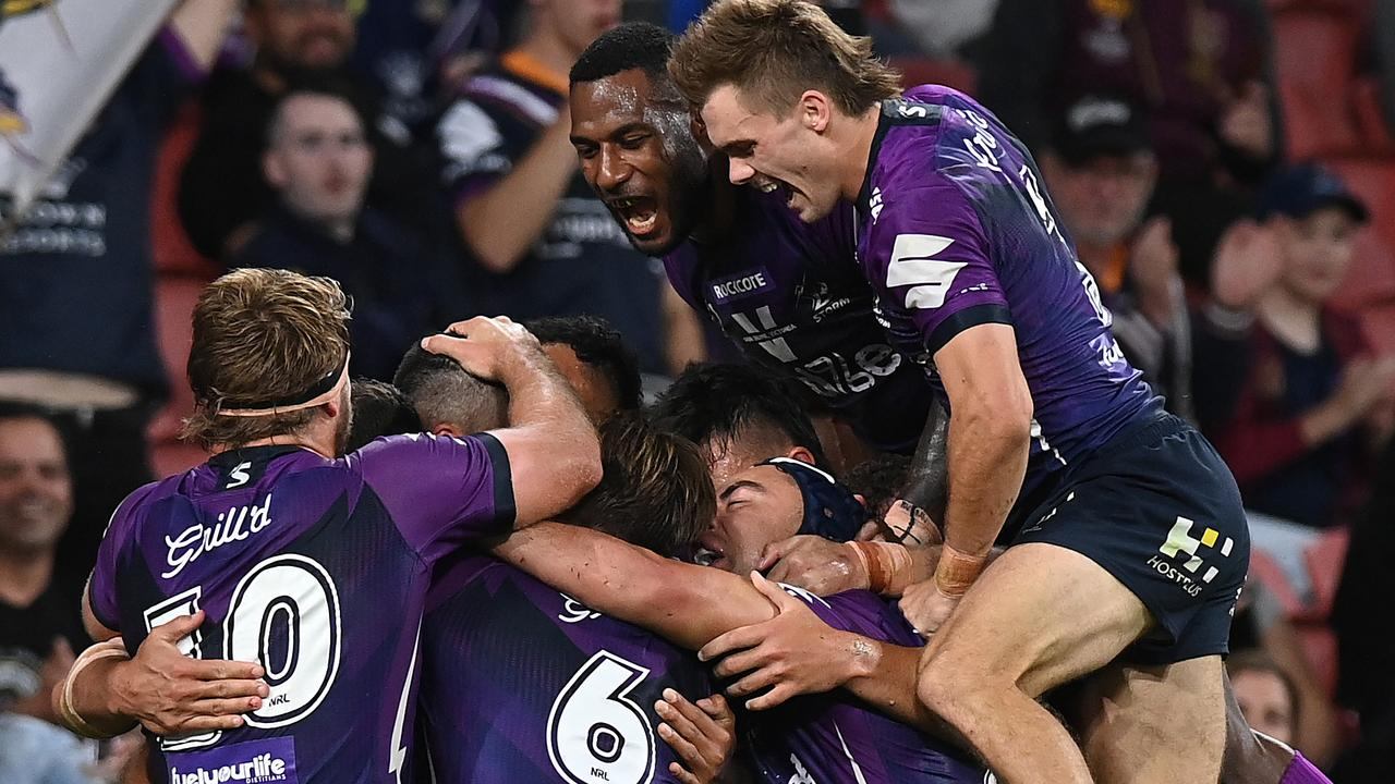The Storm are potentially one win away from making yet another Grand Final – which would be Cameron Smiths' sixth decider. Picture: Getty Images.