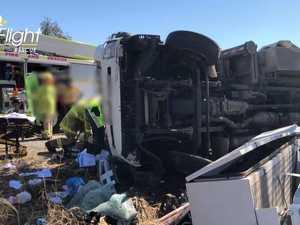 IN PHOTOS: Man's horror truck crash near Warrego Hwy