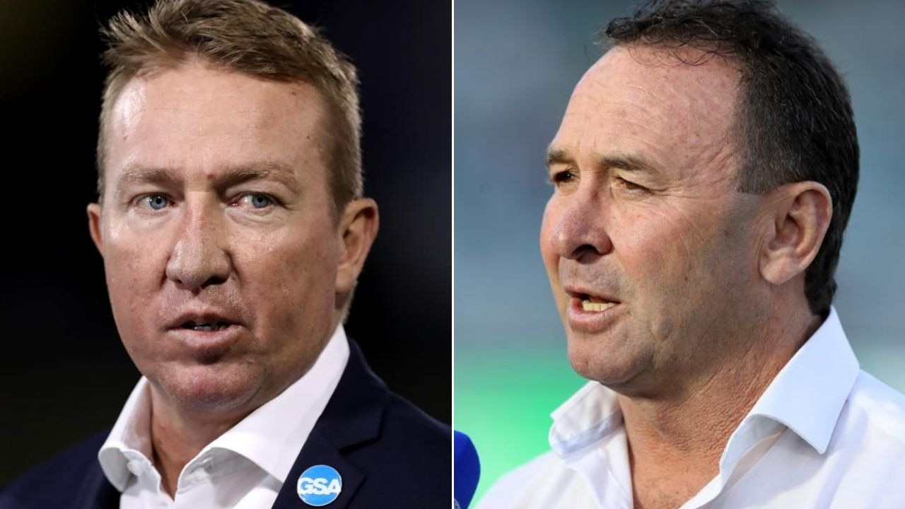 Ricky Stuart (right) makes no secret of the fact he doesn't like Trent Robinson (left).