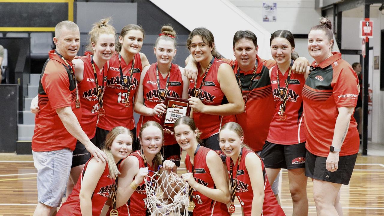 The Mackay Meteorettes defeated Gold Coast Waves 78-74 in the grand final of the U16 Basketball Queensland Girls Division 1 State Championships. Photo: Trudi Jensen