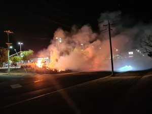 PHOTOS: Fireys contain 30-40m blaze near Aldi grocery store