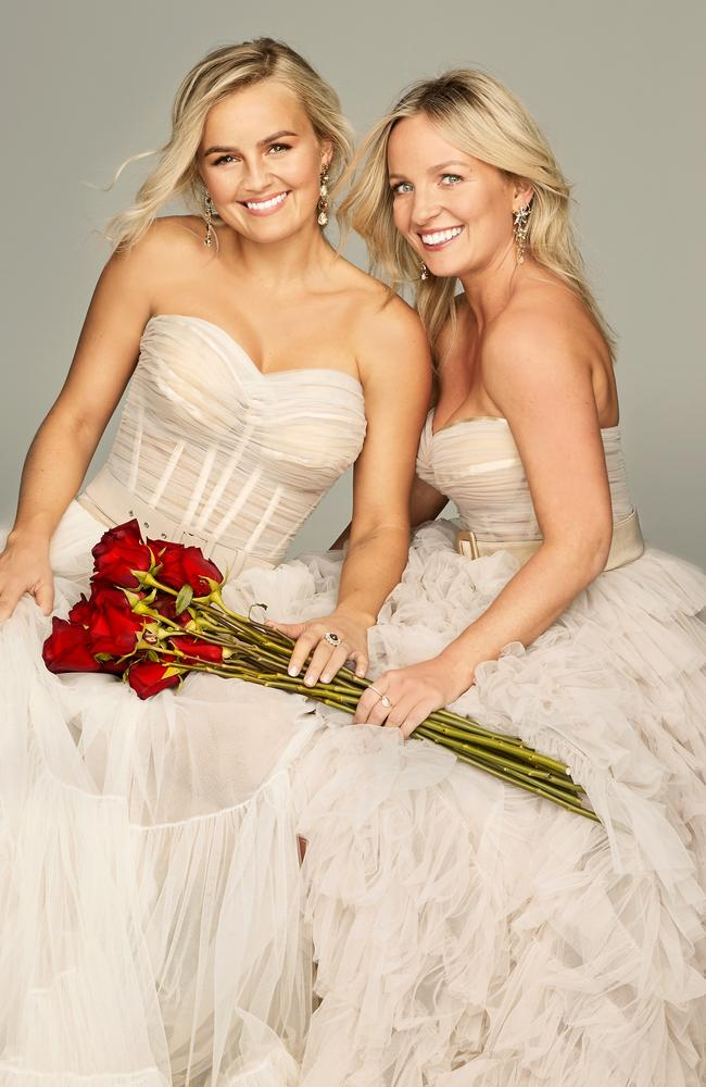Double love … Elly and Becky became closer while filming The Bachelorette. Picture: 10