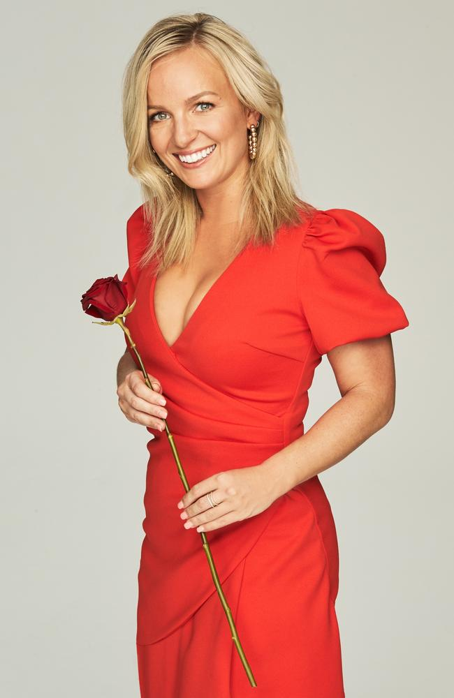 Brave … Becky was inspired by her sister's search for love, signing up to 10's reality series, The Bachelorette. Picture: Supplied/10