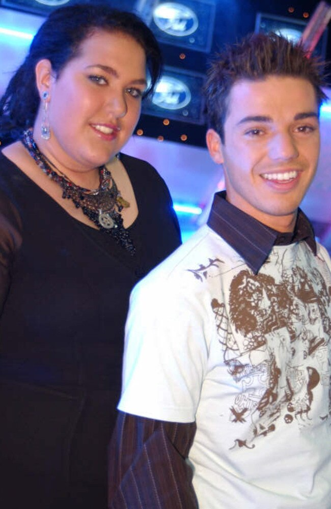 Idol finalists Casey Donovan and Anthony Callea in 2004. Picture: Channel 10