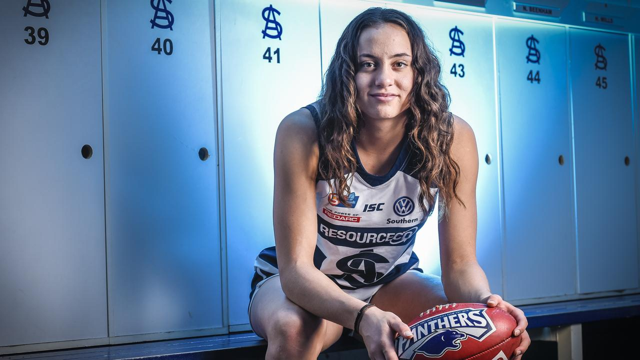 Indy Tahau's switch from rugby union to AFLW has paid off. Picture: Roy VanDerVegt/AAP