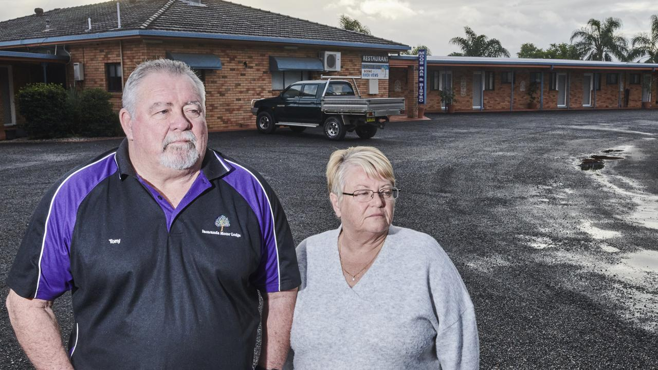 Owners of the Jacaranda Motor Lodge Tony and Angie Stackhouse.
