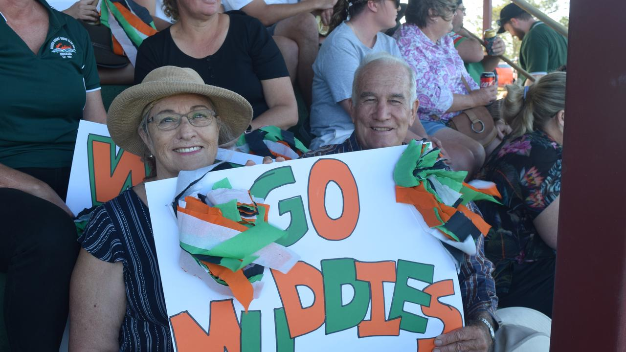 Brill and Trish Lowis got behind the Muddies on Saturday. Picture: Laura Thomas