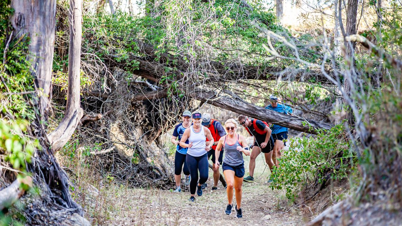 Competitors at th second training session for Dead Cow Gully. (Picture: Contributed)