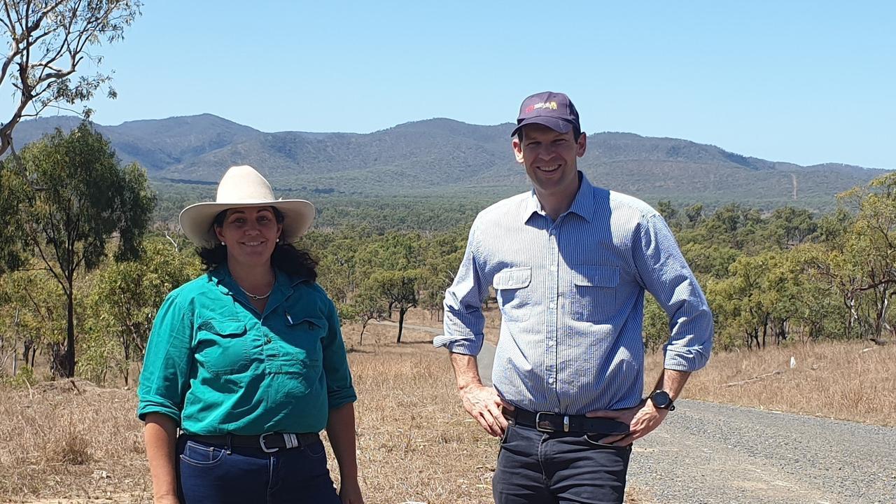 LNP candidate for Mirani Tracie Newitt and Queensland LNP Senator Matthew Canavan.