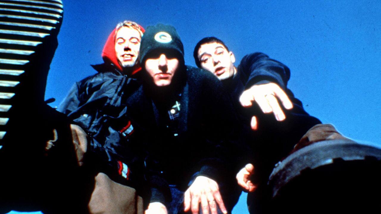 Beastie Boys rock band members Mike D, with Adam Horovitz and Adam Yauch. band/beastie/boys