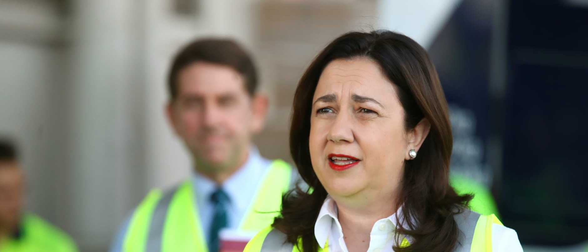 Queensland Premier Annastacia Palaszczuk Holds Press Conference As State Election Campaign Begins