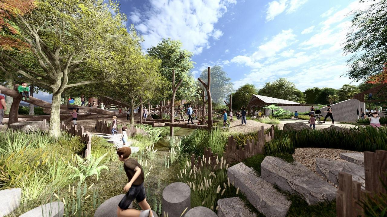 The original designs for the $5.2 million Hinterland Adventure Playground released by Noosa Council.